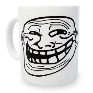Caneca MEME Troll Face
