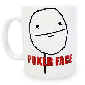 Caneca MEME Poker Face