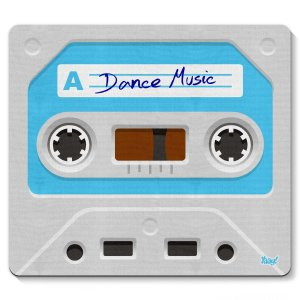 Mouse pad Fita Cassete Dance Music