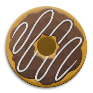 Porta Copo Ecológico Imã Donut - Chocolate