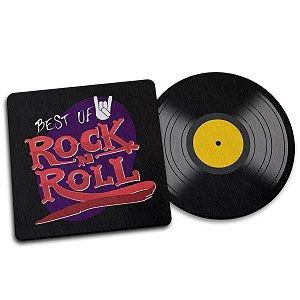 Par de Porta Copo Ecológico Imã Best of Rock - Disco LP