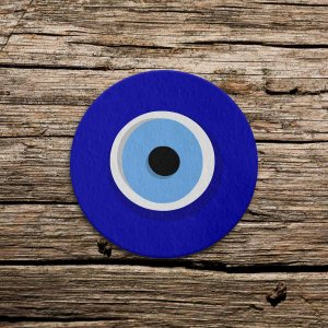 Porta Copo Ecológico Imã da sorte Olho Grego