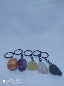 Lindos chaveiros em Pedra / Cristal 100PCento  Natural e Verdadeira! Cornalina Rolada