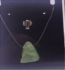 Colar Ponto de Luz de Quartzo Verde - Pedra Rolada - 100PCento  Natural e Verdadeiro - Diversas Pedras!