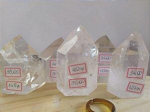 Ponta Gerador Quartzo Cristal / Hialino - Sextavado - 148 GRAMAS