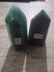 Ponta De Cristal de Quartzo Verde Gerador - Sextavado - 140 GRAMAS