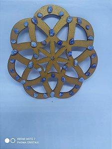Mandala Caminhos de Cristais Pequenos - Energizacao de Ambientes - 14 Centimetros - ONIX