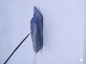 Porta Incenso / Incensário de Pedra Bruta Natural - Pedras Médias 100% Naturais e Brutas - QUARTZO AZUL