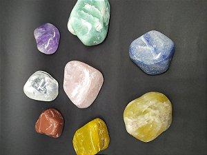 Kit contendo Pedras Tamanho GRANDE nas cores dos Chakras