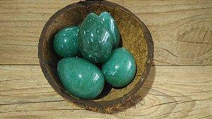 ATACADO: Yoni Ovo Quartzo Verde SEM FURO para Pompoarismo 10 UNIDADES - 3,5 a 4,5 Centímetros - SOB ENCOMENDA - PADRONIZADO