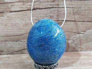 Yoni Ovo Quartzo Azul COM FURO para Pompoarismo / Cristaloterapia / Energia Quântica (Kegel)