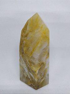Ponta De Cristal Hematóide Gerador - Sextavado - Super Ponta de Cristal 498 - 11,5 Centímetros