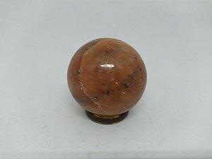 Bola Esfera de Calcita Laranja - 100% Natural - 185 gr