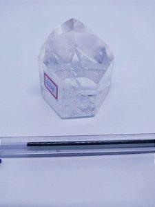Ponta De Cristal Gerador - Cristal Hialino / Cristal de Quartzo - Sextavado - 100% Natural - 163 Gramas