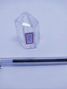 Ponta De Cristal Gerador - Cristal Hialino / Cristal de Quartzo - Sextavado - 100PCento  Natural - 97 Gramas