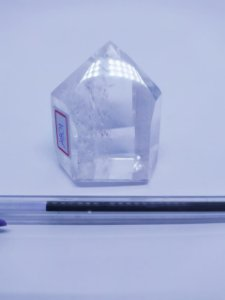 Ponta De Cristal Gerador - Cristal Hialino / Cristal de Quartzo - Sextavado - 100% Natural - 147 Gramas