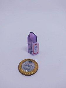 Ponta De Cristal Gerador - Ametista - Sextavado - 100PCento  Natural - 16 Gramas