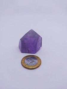 Ponta De Cristal Gerador - Ametista - Sextavado - 100% Natural - 21 Gramas