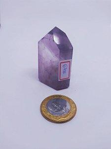 Ponta De Cristal Gerador - Ametista - Sextavado - 100PCento  Natural - 54 Gramas