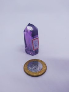 Ponta De Cristal Gerador - Ametista - Sextavado - 100PCento  Natural - 41 Gramas