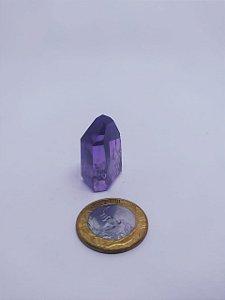 Ponta De Cristal Gerador - Ametista - Sextavado - 100% Natural - 44 Gramas