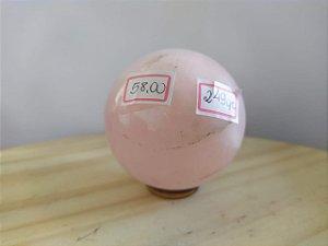 Bola Esfera de Quartzo Rosa - 100% Natural - 249 Gr