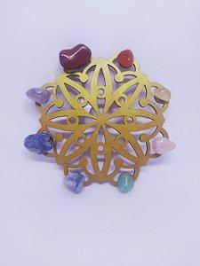 Mandala de Cristais dos Sete Chakras / 7 Chakras - Energização de Ambientes - 15 Centímetros