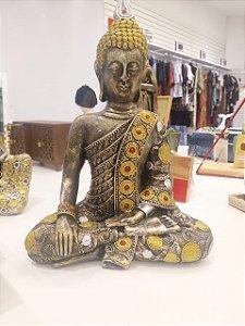 Estatueta / Escultura de Buda pintada em Arte Barroca