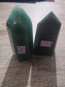 Ponta De Cristal de Quartzo Verde Gerador - Sextavado
