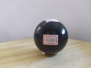 Bola Esfera de Obsidiana Negra - 218 Gramas - Pedra 100% Natural