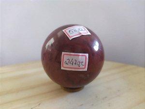 Bola Esfera de Cristal em Jaspe Vermelho - 100% Natural - 247 gr