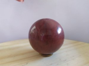 Bola Esfera de Cristal em Jaspe Vermelho - 100% Natural - 168 gr