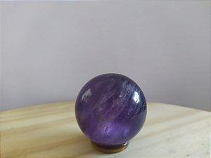 Bola Esfera de Cristal em Ametista - 100% Natural - 104 gr