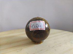 Bola Esfera de Cristal em Olho de Tigre - 100% Natural - 138 gr