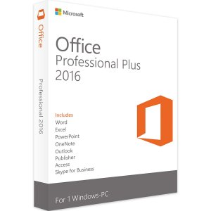 MICROSOFT OFFICE 2016 PROFESSIONAL VITALÍCIO – 32 / 64 BITS – ESD - 5PC