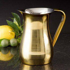 Jarra Dourada Gold Em Aço Inox 1,5 Litros