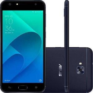 "Smartphone Asus Zenfone 4 Selfie Dual Chip Android 7 Tela 5.5"" Snapdragon 32GB 4G Câmera Traseira 16MP Dual Frontal 20MP + 8MP - Preto"