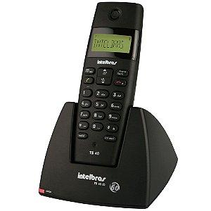 Telefone sem Fio Intelbras com Dect TS 40 ID e Identificador de Chamadas - Preto
