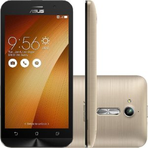 Smartphone Asus Zenfone Go, Quad Core, Android 5.1, Tela 5´, 8GB, 8MP, 3G, Dual Chip Desbloqueado - Dourado