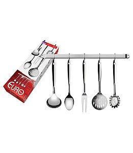 Conjunto de Utensílios de Cozinha Euro com Suporte 6 Peças - IN2704