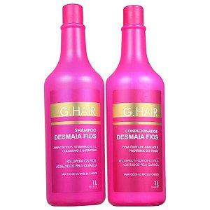 Kit Shampoo + Condicionador G.hair Desmaia Fios 1 Litro Cada