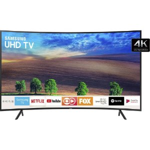 "Smart TV LED Tela Curva 49"" UHD Samsung 49NU7300 Ultra HD 4k com Conversor Digital 3 HDMI 2 USB Wi-Fi Visual Livre de Cabos HDR Premium Smart Tizen"