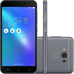 "Smartphone Asus Zenfone 3 Max Snapdragon Dual Chip Android 6 Tela 5.5"" 32GB 4G Wi-Fi Câmera 16MP - Cinza"