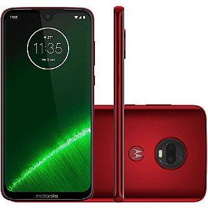 """Smartphone Motorola Moto G7 Plus 64GB Dual Chip Android Pie - 9.0 Tela 6.3"""" 1.8 GHz Octa-Core 4G Câmera 16MP F1.7 + 5MP F1.9 (Dual Cam) - Vermelho"""