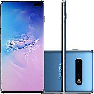 "Smartphone Samsung Galaxy S10+ 128GB Dual Chip Android 9.0 Tela 6.4"" Octa-Core 4G Câmera Tripla Traseira 12MP + 12MP + 16MP"