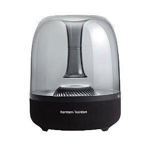 Caixa de Som Portátil JBL Aura Studio 2 Harman Kardon com Bluetooth. Iluminação de Ambiente, Design Clássico - Preta