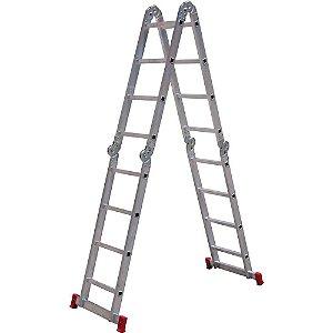 Escada Articulada 4 x 4 em Alumínio 12 Degraus