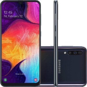 "Smartphone Samsung Galaxy A50 64GB Dual Chip Android 9.0 Tela 6,4"" Octa-Core 4G Câmera Tripla 25MP + 5MP + 8MP"