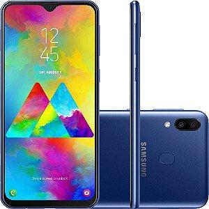 "Smartphone Samsung Galaxy M20 64GB Dual Chip Android 8.1 Tela 6.3"" Octa-Core 4G Câmera 13MP + 5MP - Azul"