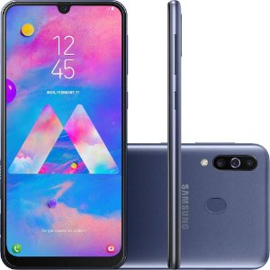"Smartphone Samsung Galaxy M30 64GB Dual Chip Android 8.1 Tela 6.4"" Octa-Core 4G Câmera 13MP +5MP+5MP - Azul"